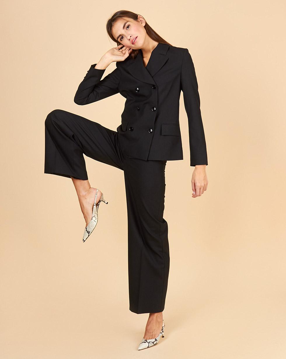 Фото - 12STOREEZ Жакет классический двубортный 12storeez костюм жакет двубортный и брюки темно серый