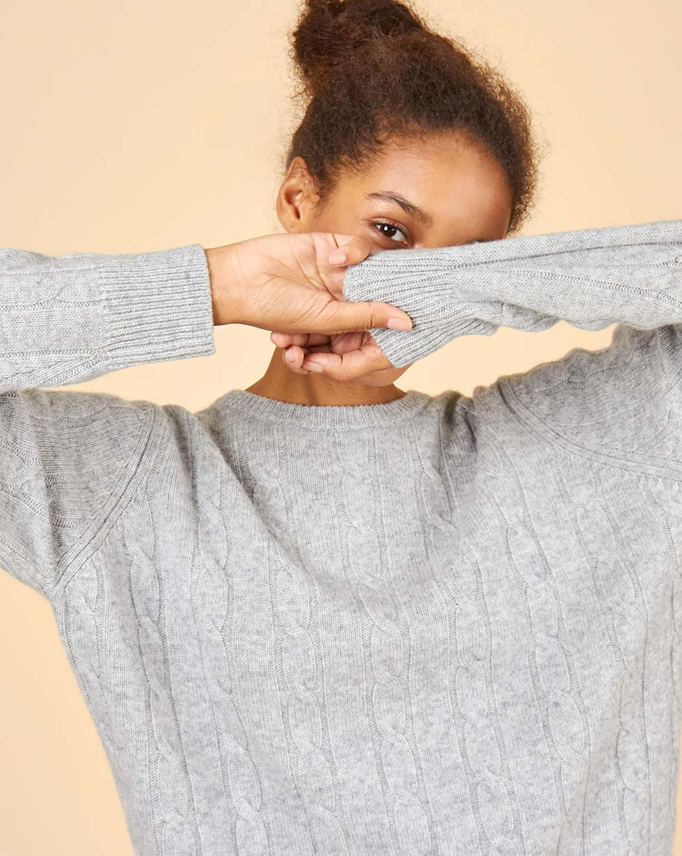 12STOREEZ Свитер с косами из 100% кашемира 12storeez свитер с косами