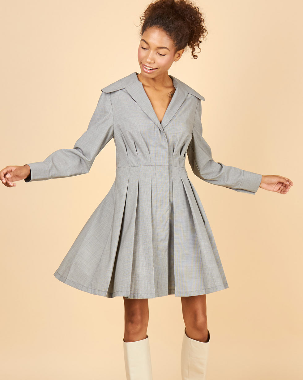 12STOREEZ Платье мини с плиссированной юбкой