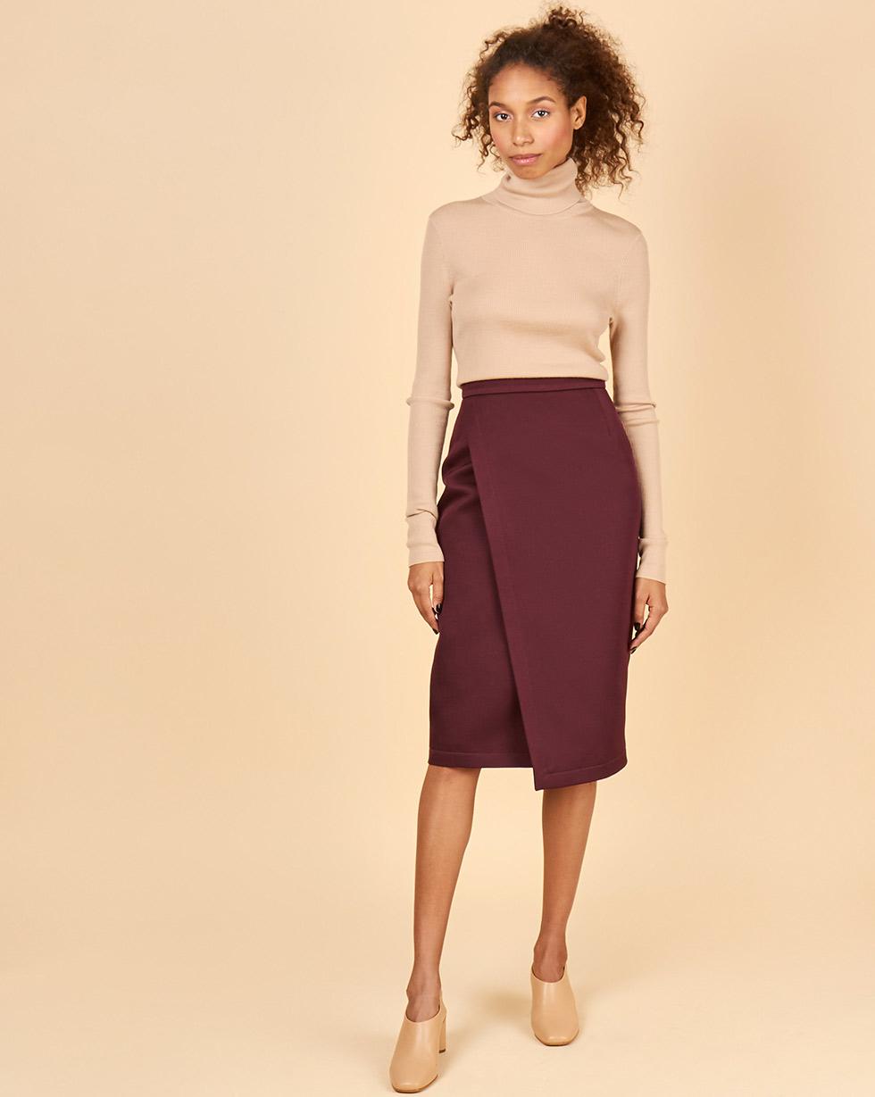 12STOREEZ Юбка с запахом полуприлегающая юбка с запахом max mara полуприлегающая юбка с запахом