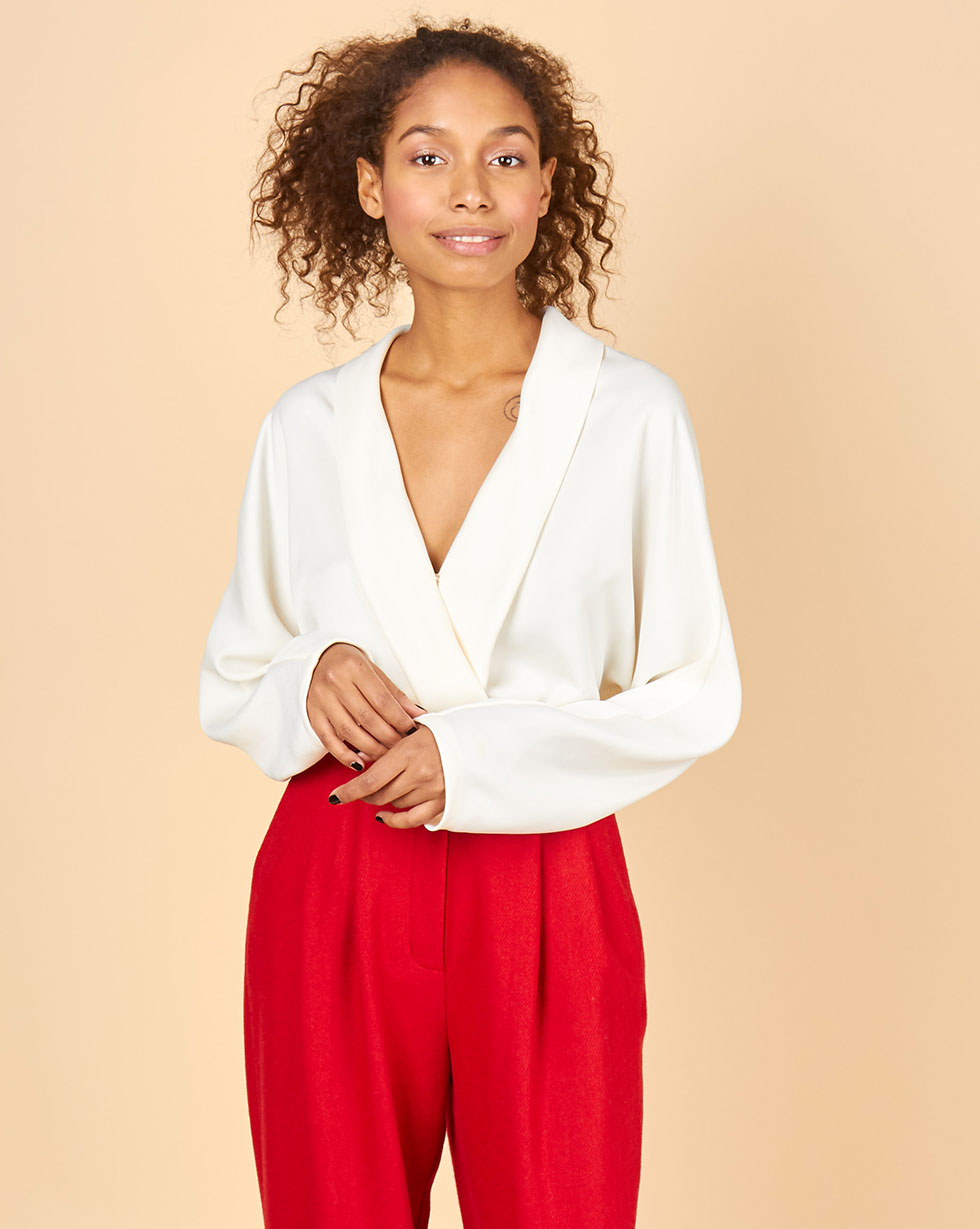 12STOREEZ Блуза с запахом блуза zibi london блуза