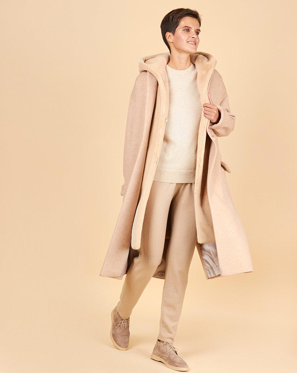 12⠀STOREEZ Пальто утепленное с меховым жилетом