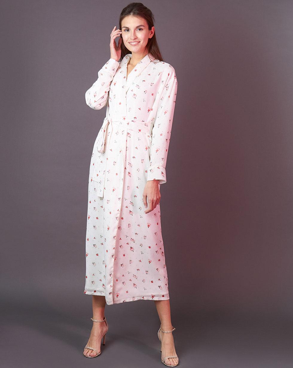 12STOREEZ Платье-халат в цветок