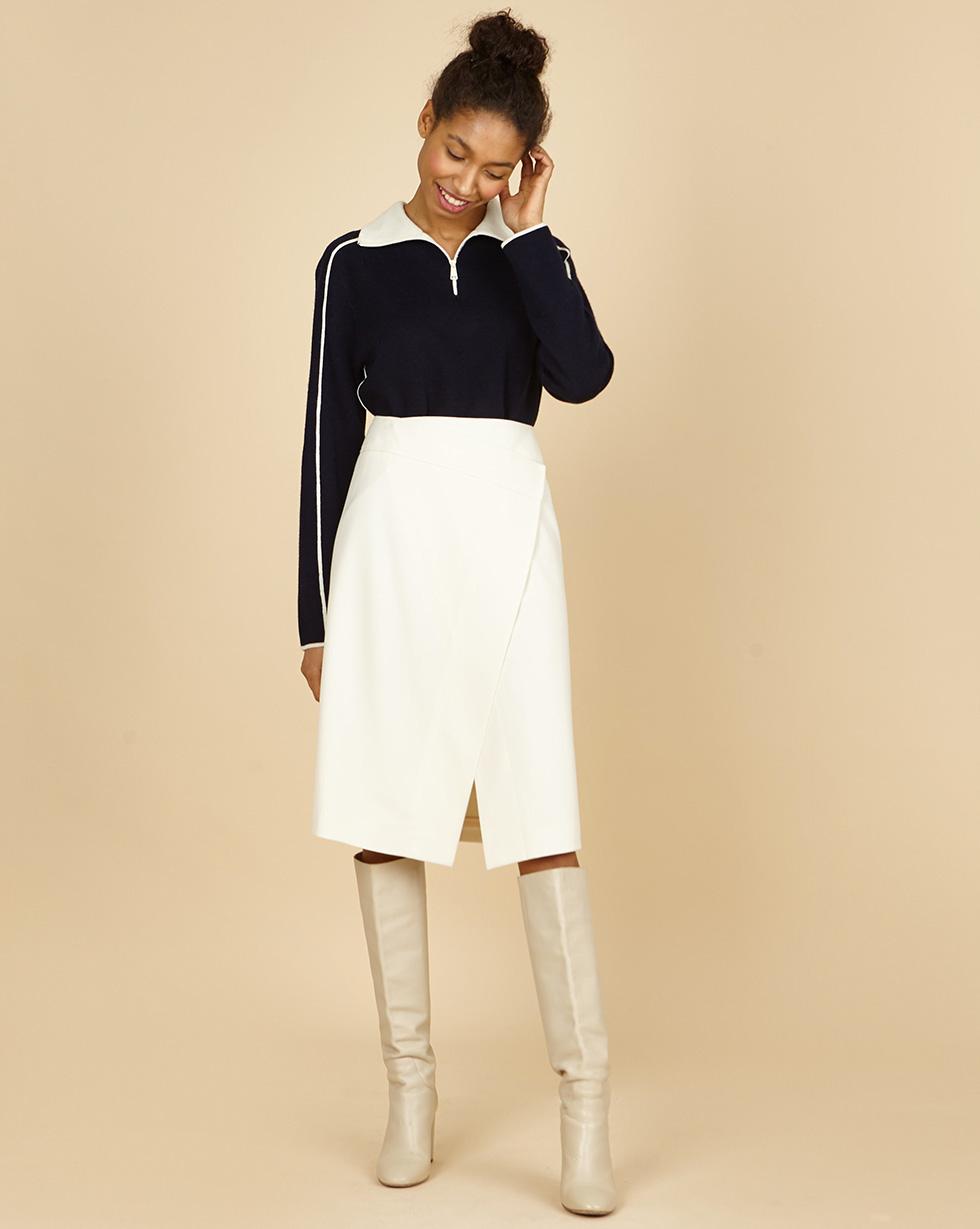 12STOREEZ Юбка миди с запахом полуприлегающая юбка с запахом max mara полуприлегающая юбка с запахом