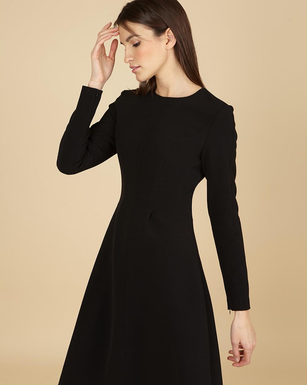 12STOREEZ Платье приталенное с длинными рукавами 12storeez платье приталенное с длинными рукавами