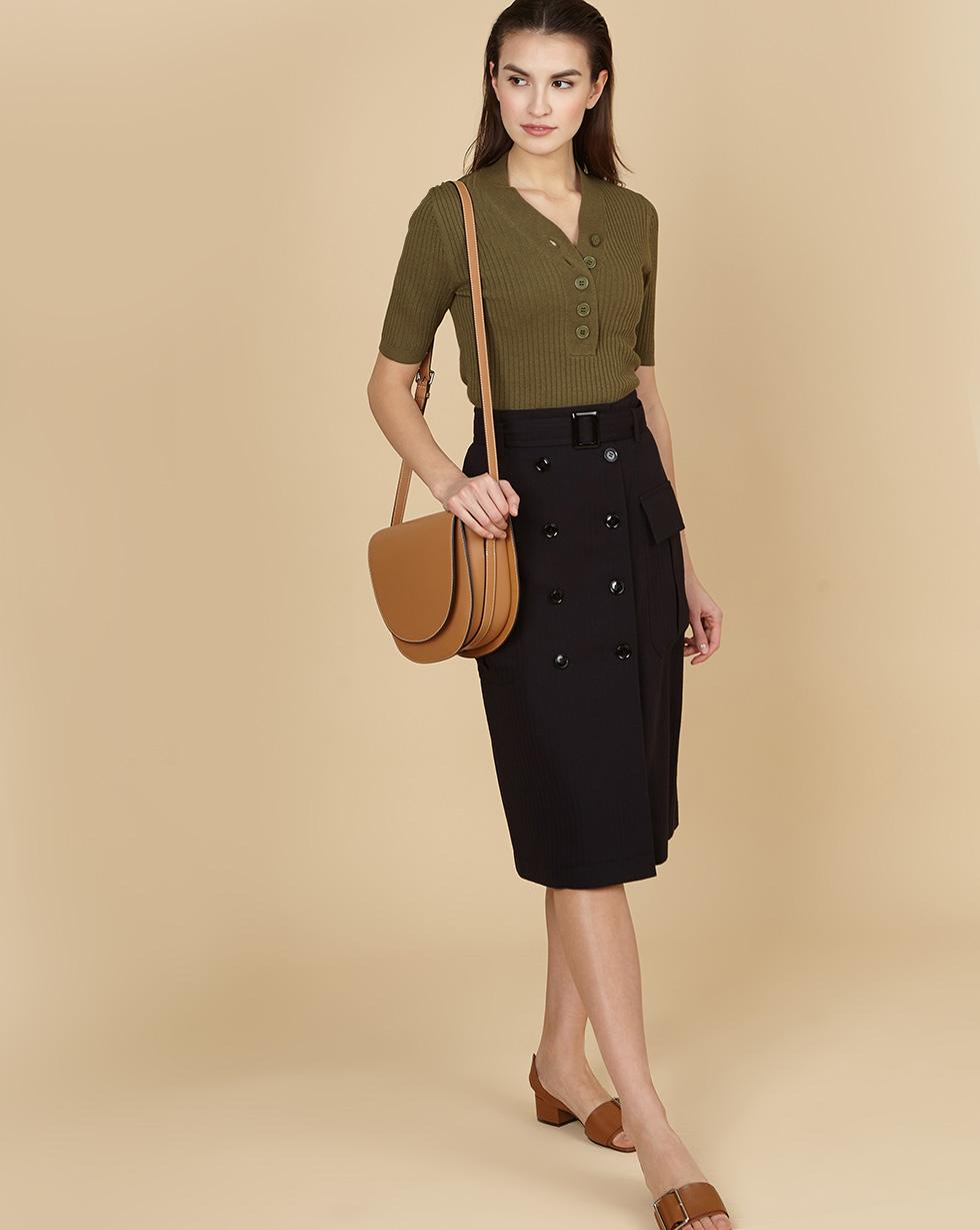 Фото - 12⠀STOREEZ Юбка миди со съемным поясом 12storeez юбка миди со складками спереди