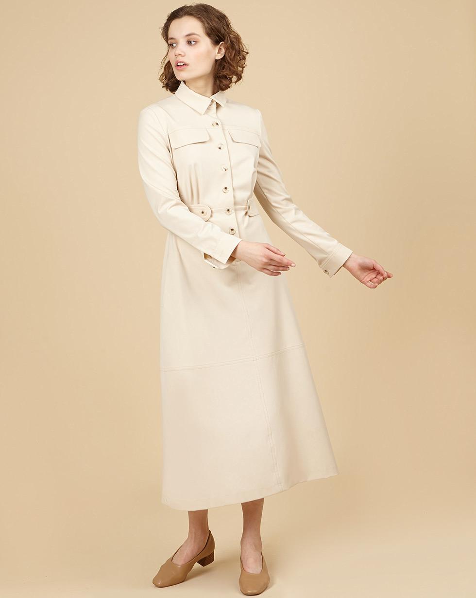 12⠀STOREEZ Платье миди с клапанами и съёмным поясом
