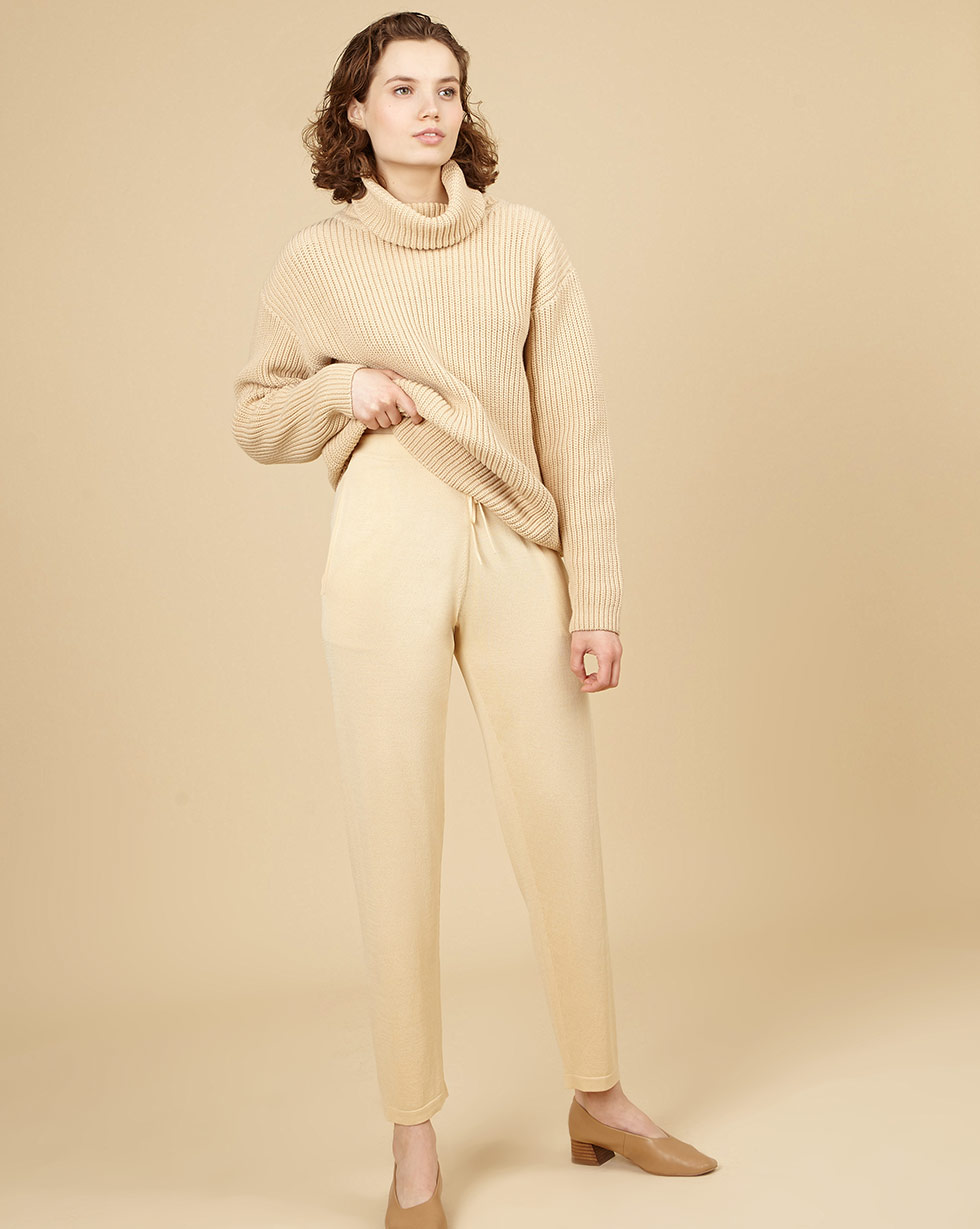 Фото - 12⠀STOREEZ Брюки на завязках брюки в городском стиле из ткани стретч с удлиняющими вырезами