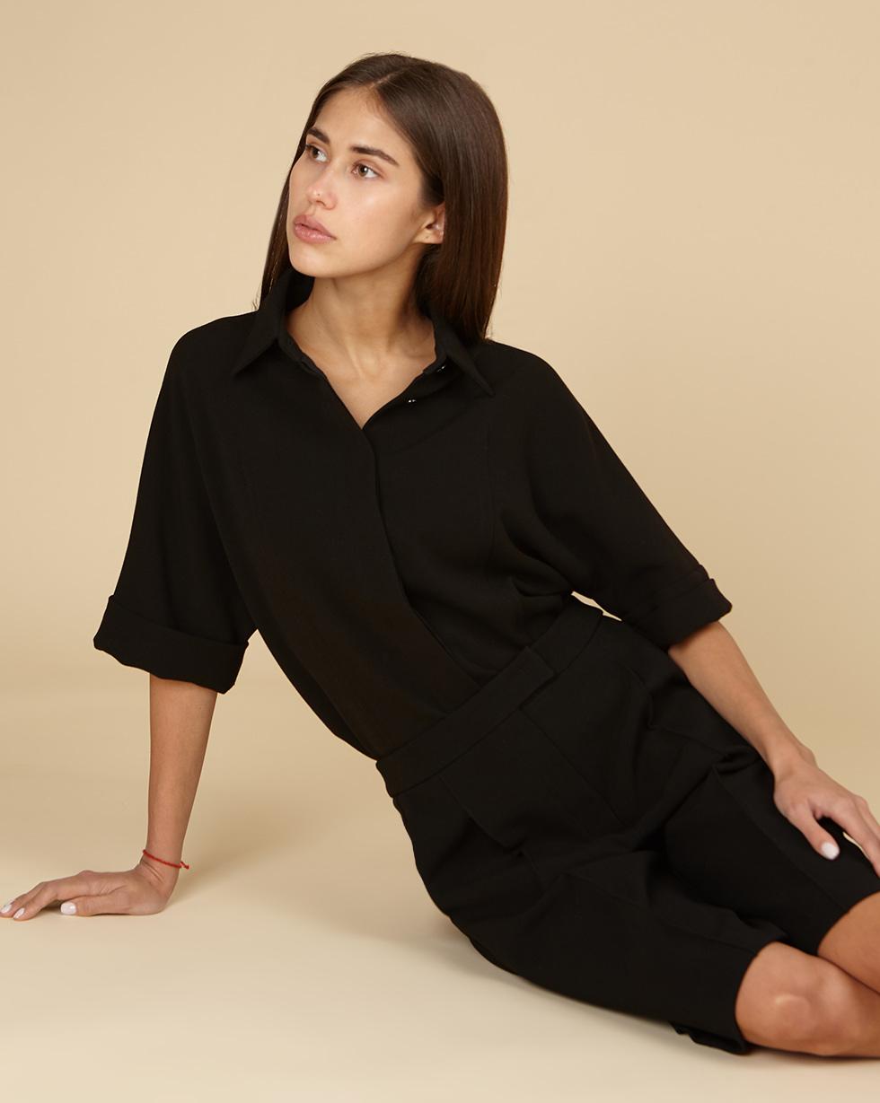 12STOREEZ Блуза свободная с отстрочками
