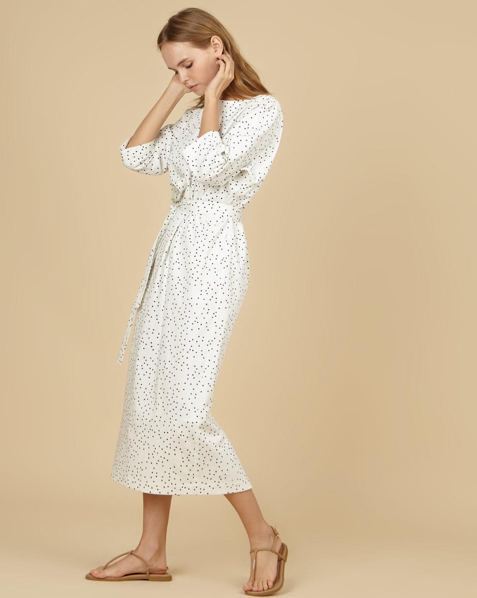 12STOREEZ Платье миди с вырезом и пуговицами сзади