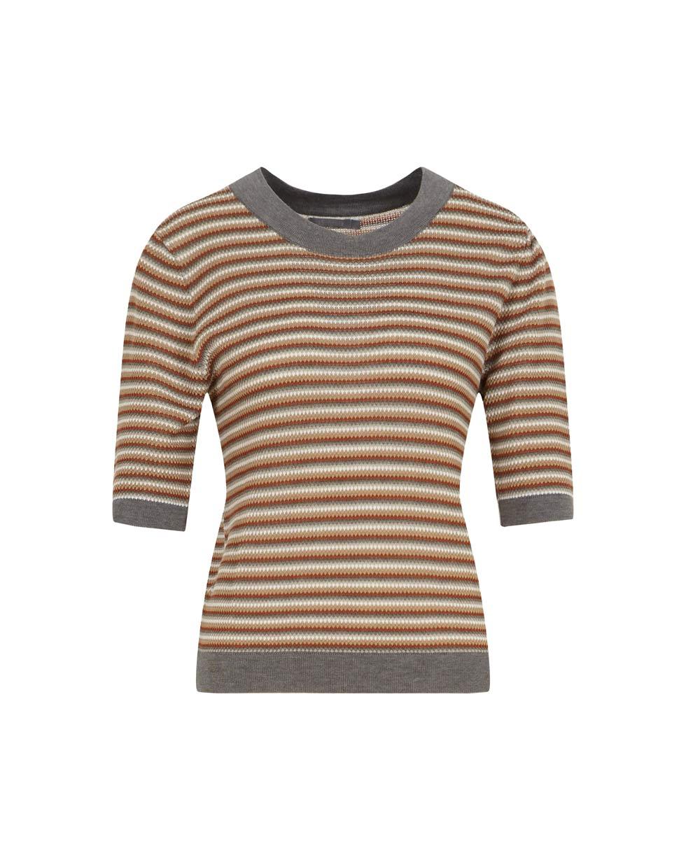 12⠀STOREEZ Костюм в полоску: юбка и топ мультиколор