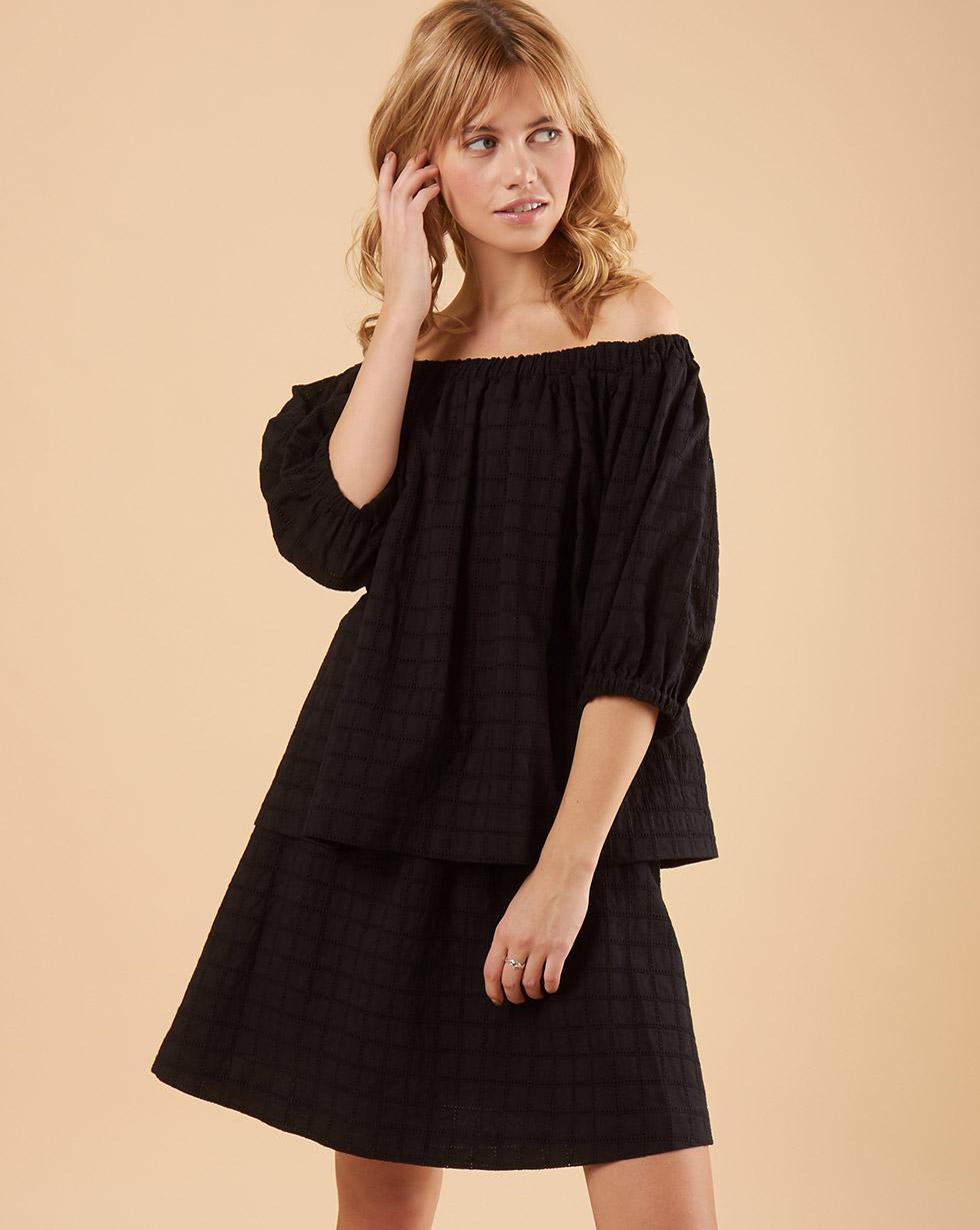 12STOREEZ Блуза с рукавами фонарик из шитья блуза caroon