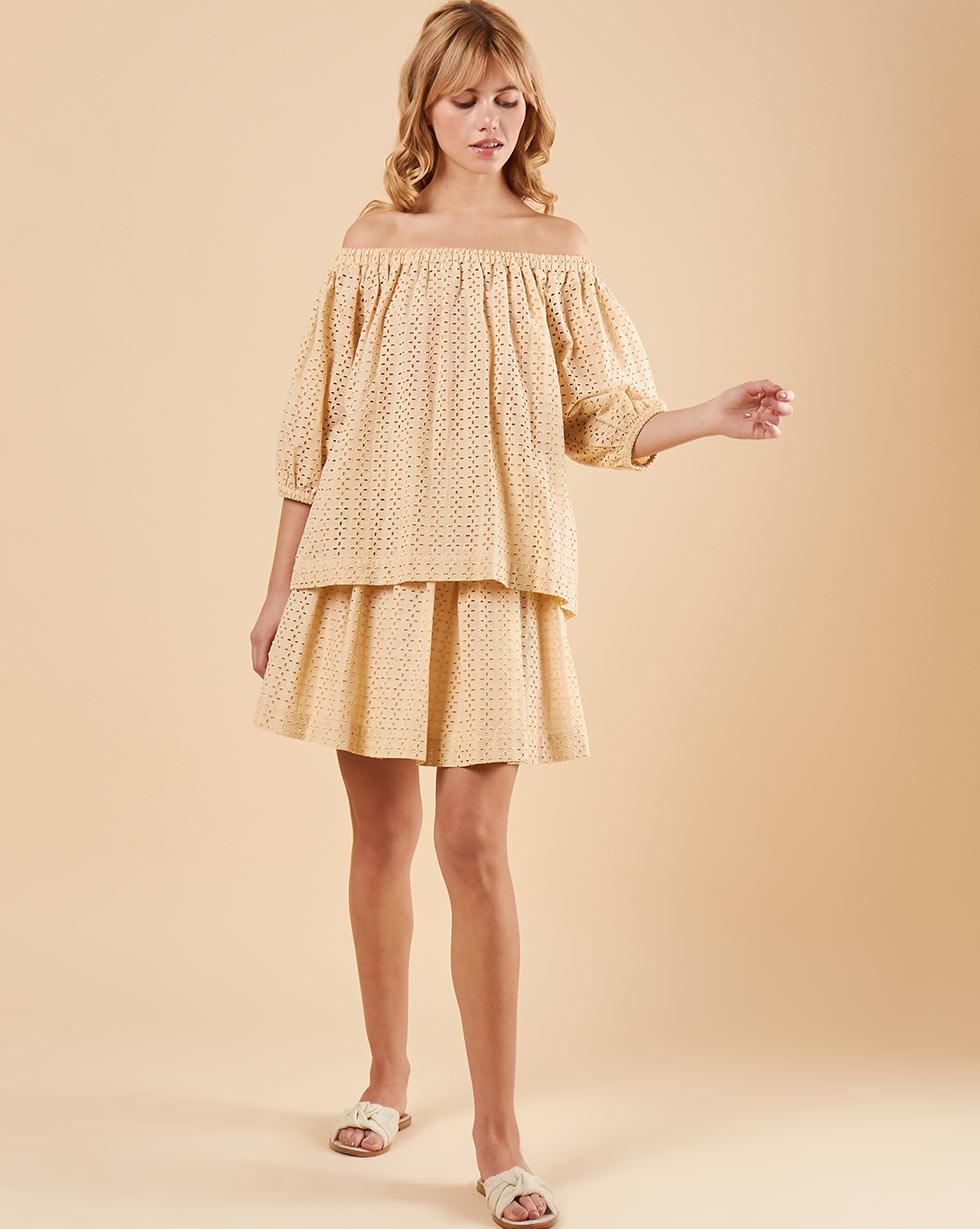 12STOREEZ Блуза с рукавами фонарик из шитья