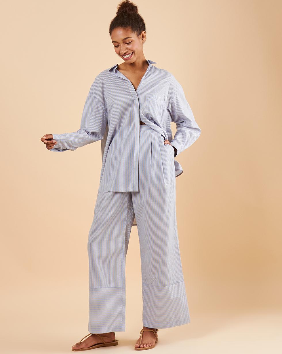 Фото - 12⠀STOREEZ Брюки свободные брюки в городском стиле из ткани стретч с удлиняющими вырезами