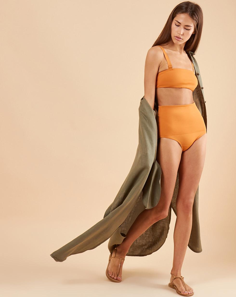 12⠀STOREEZ Низ купального костюма - высокие плавки 12⠀storeez верх купального костюма бюстгальтер с пуговицами