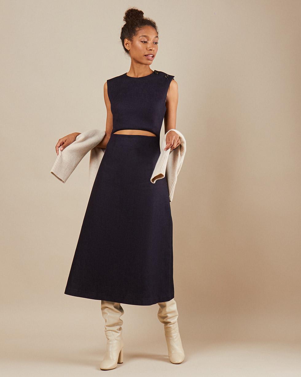 12STOREEZ Платье с вырезом на талии 12storeez платье кардиган черное