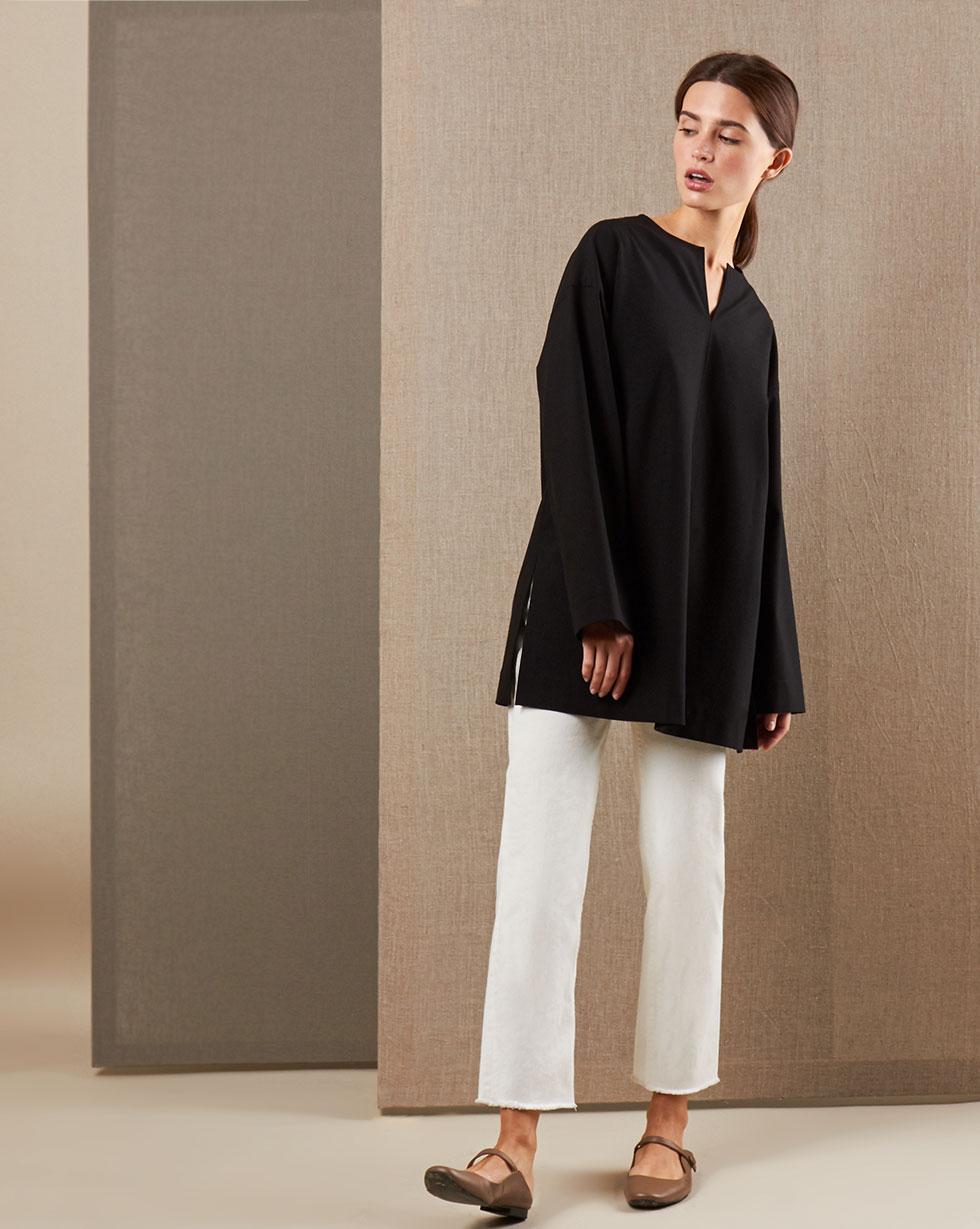 12STOREEZ Блуза широкая с отстрочками блуза zibi london блуза