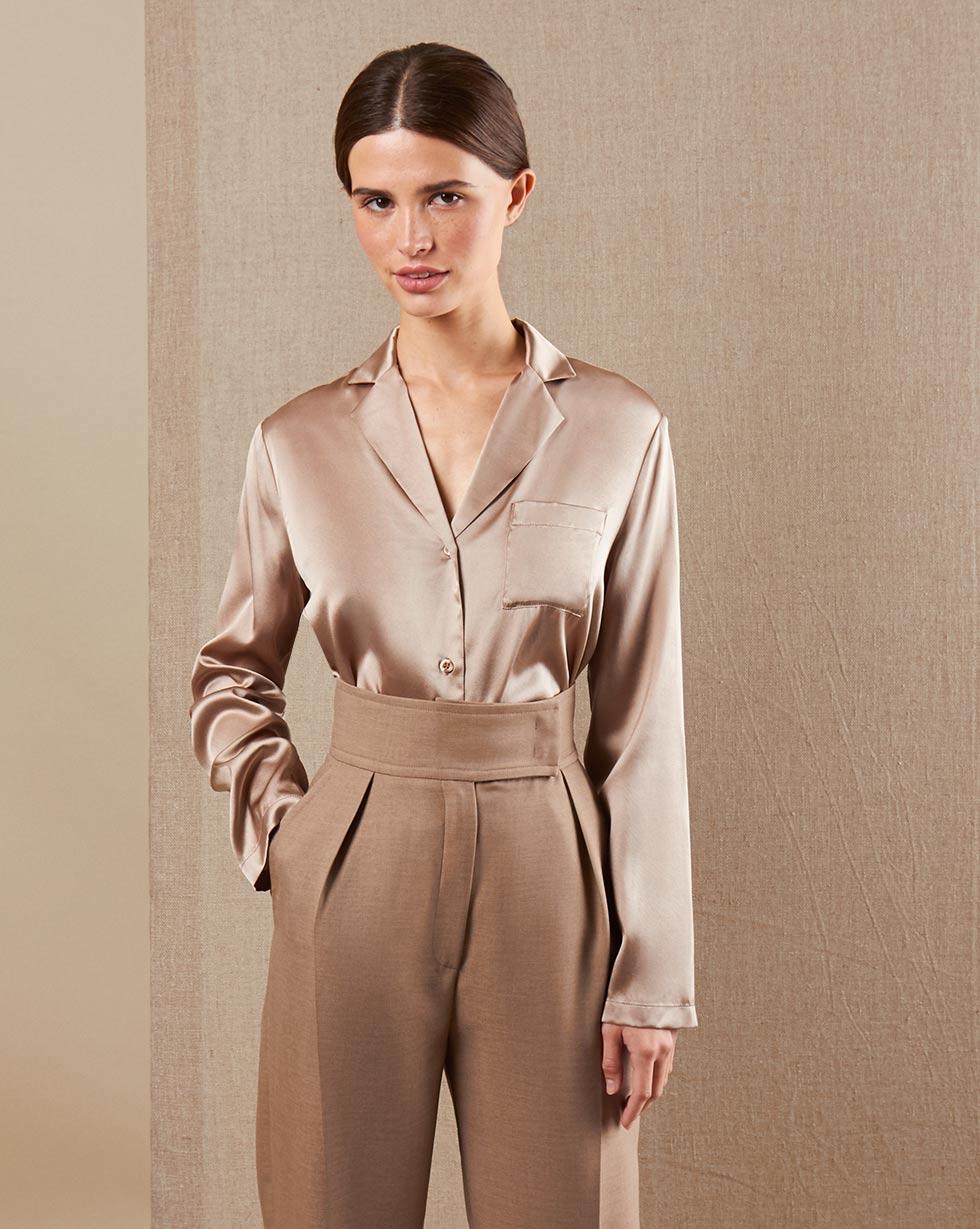 12STOREEZ Шелковая блуза блуза савосина савосина mp002xw0rc5h