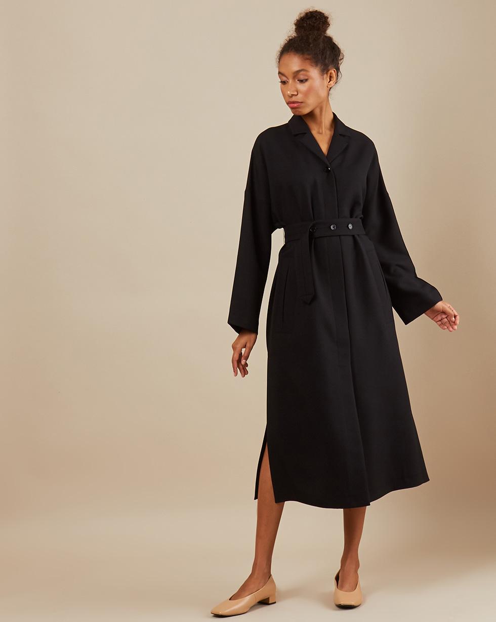 12⠀STOREEZ Платье с разрезами и поясом