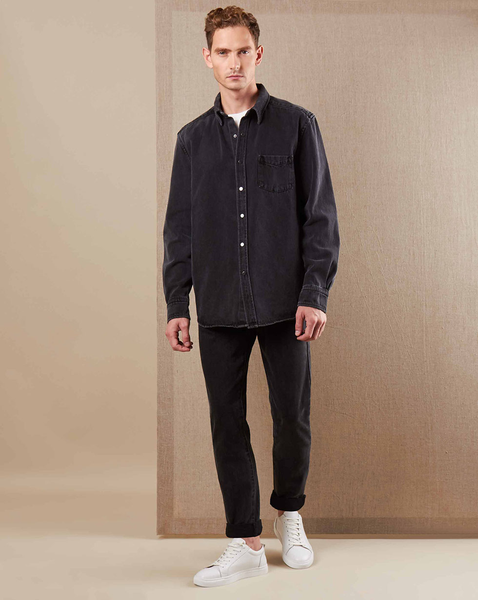 12⠀STOREEZ Джинсы прямого кроя (Темно-серый) джинсы blugirl джинсы в стиле брюк