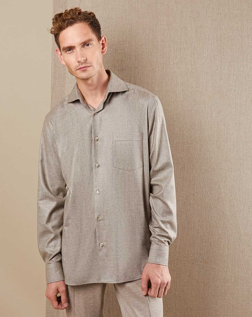 12⠀STOREEZ Рубашка свободного кроя с карманом фото