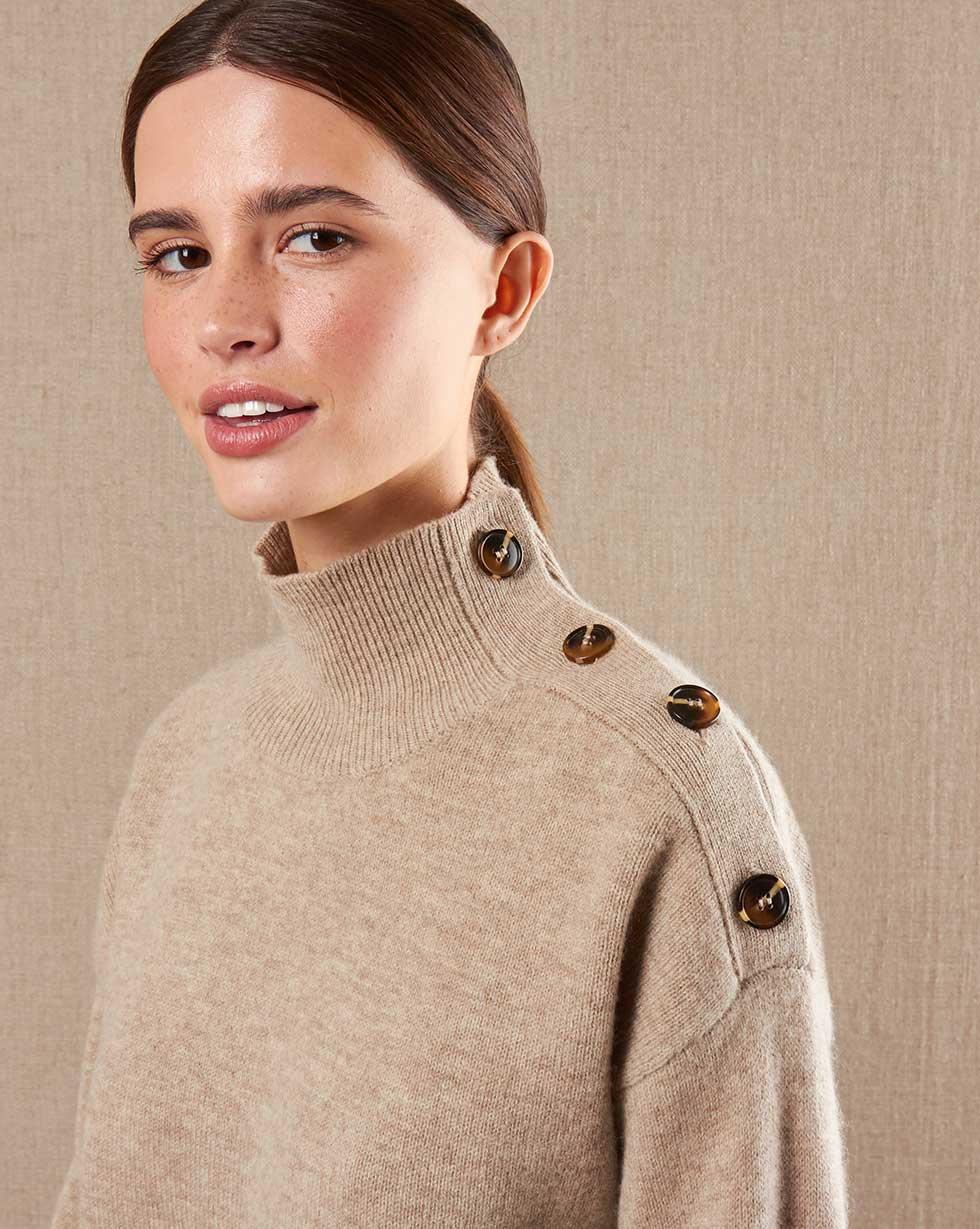 12STOREEZ Свитер с застежкой на плече the kooples свитер