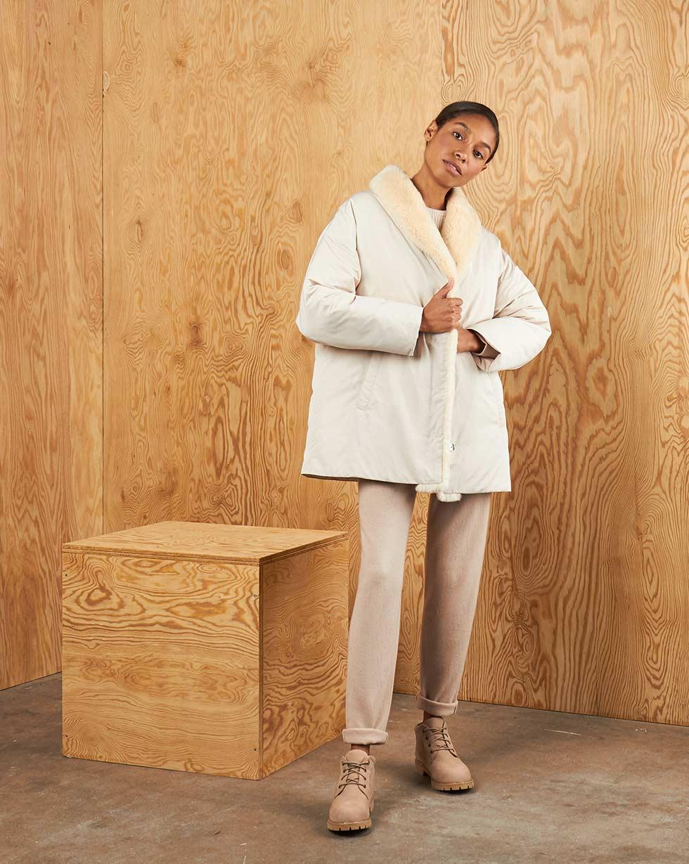 12STOREEZ Пуховик с меховым воротником пиджак с отложным воротником b young