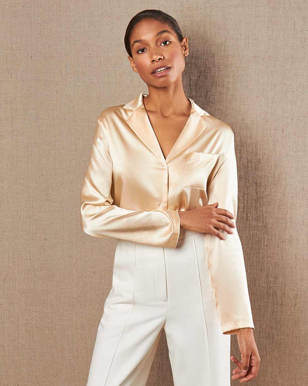 12STOREEZ Шелковая блуза