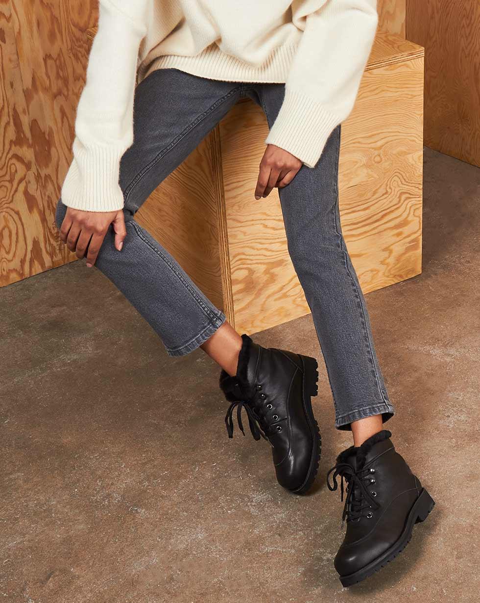 12⠀STOREEZ Ботинки с отстрочкой, на шнурках 12⠀storeez ботинки высокие с мехом