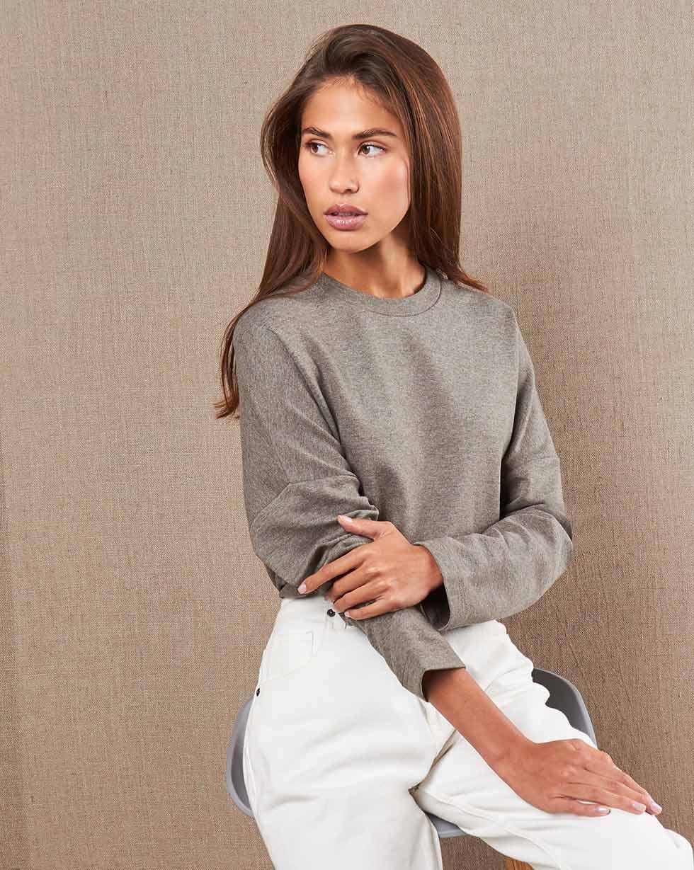 Блуза свободная из трикотажа L фото