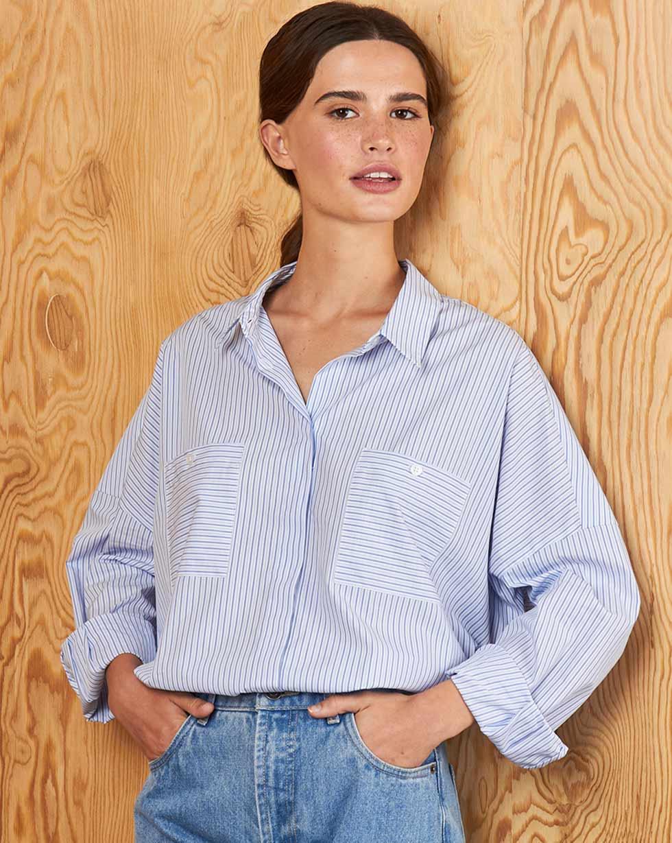 Рубашка с карманами One size фото