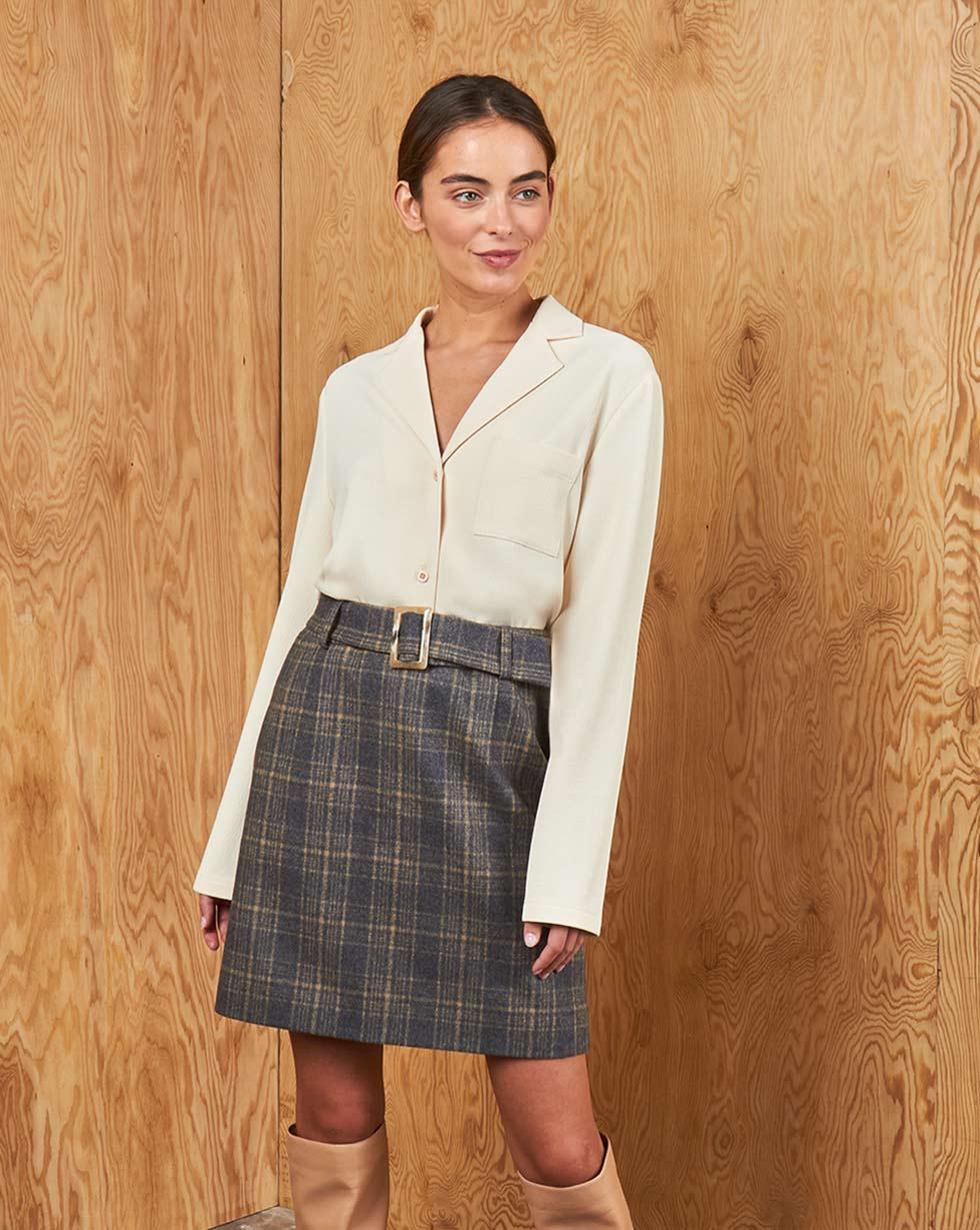 12STOREEZ Блуза на пуговицах блуза caroon