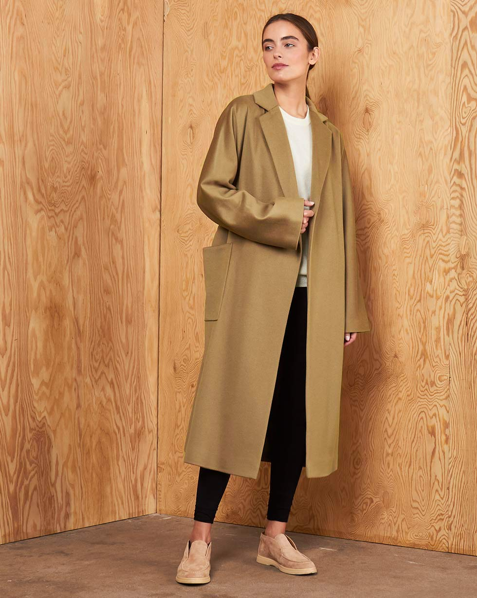 12STOREEZ Пальто-халат на подкладке с поясом