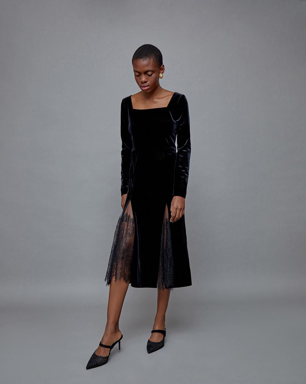 12STOREEZ Платье со вставками из кружева