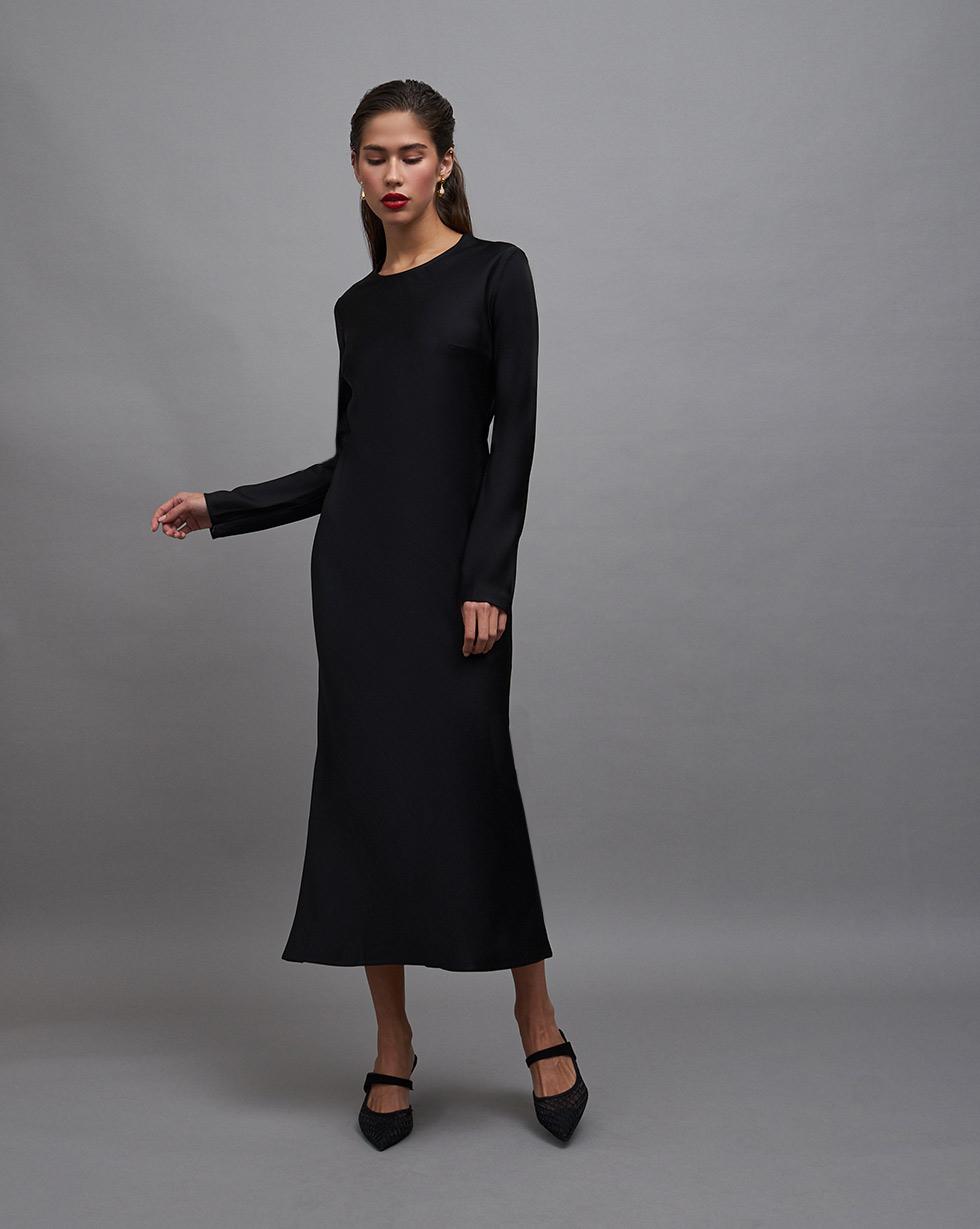 12STOREEZ Платье миди с молниями на рукавах