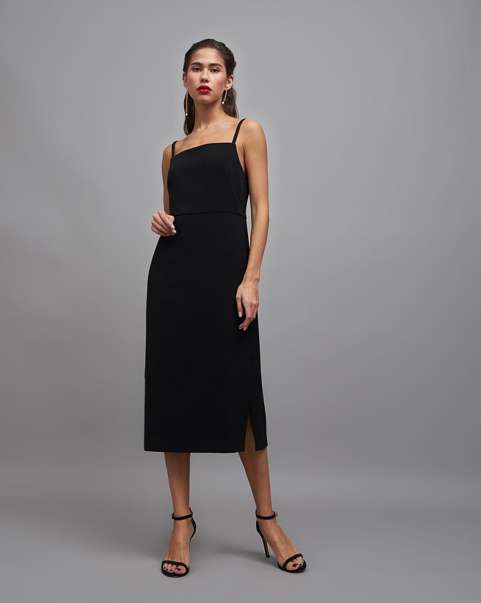 12STOREEZ Платье на бретелях с разрезами