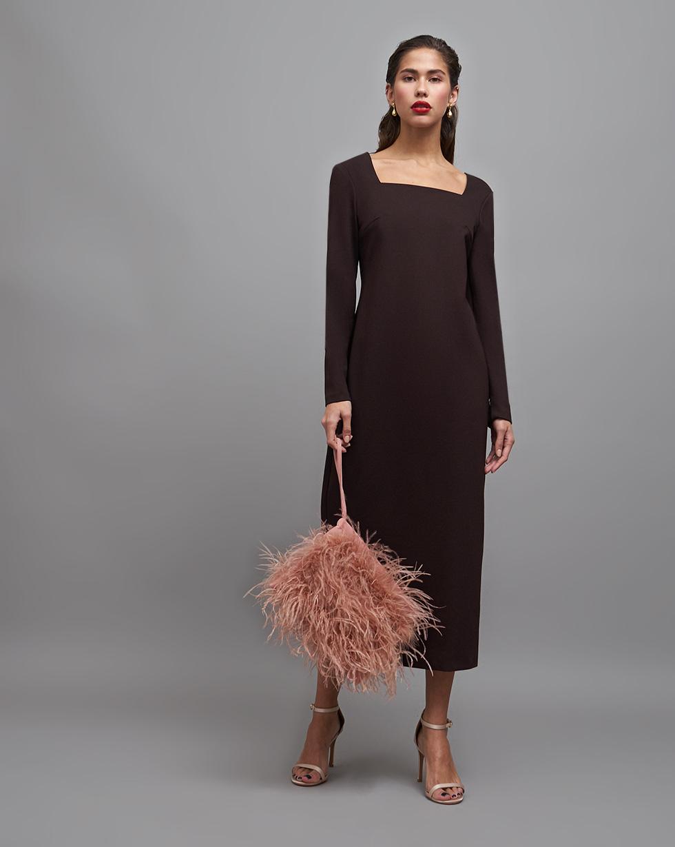 12STOREEZ Платье с квадратным вырезом