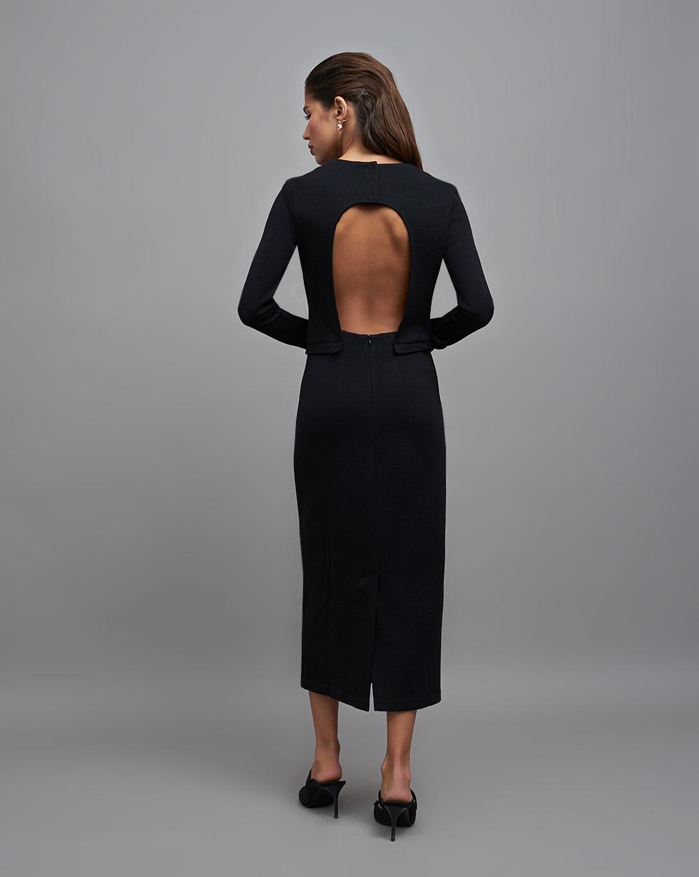 12STOREEZ Платье с вырезом на спине