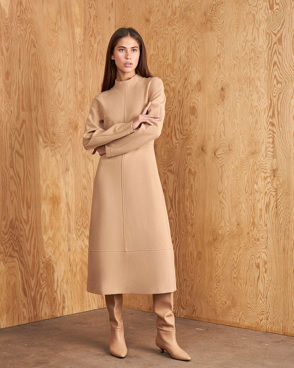 12STOREEZ Платье миди с отстрочками