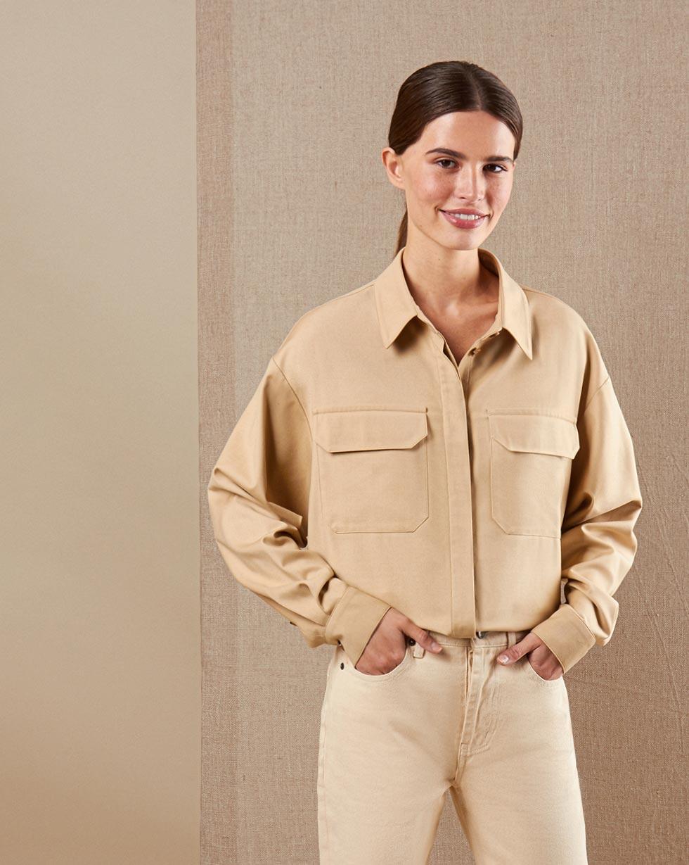 12STOREEZ Рубашка с накладными карманами легкая рубашка с застежкой на пуговицы biriz легкая рубашка с застежкой на пуговицы page 5 page 4