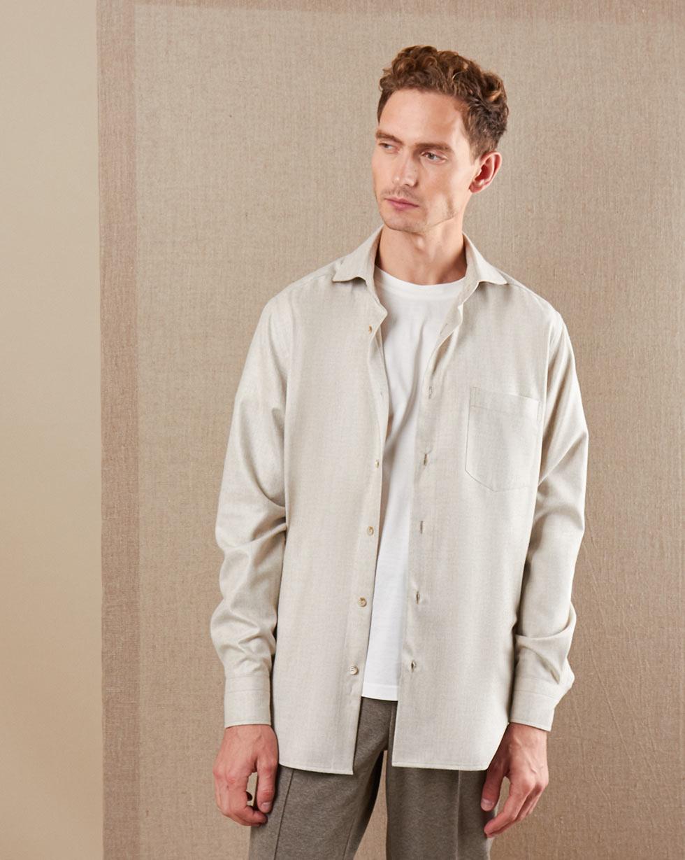 12STOREEZ рубашка свободного кроя с карманом (Бежевый) 12storeez платье комбинация свободного кроя