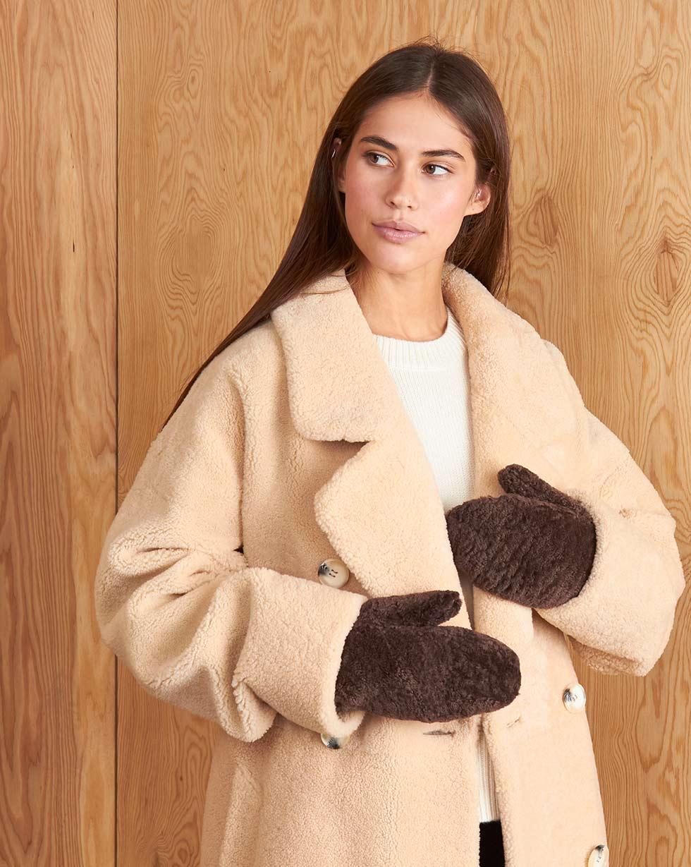 12⠀STOREEZ Меховые рукавицы (Коричневый)