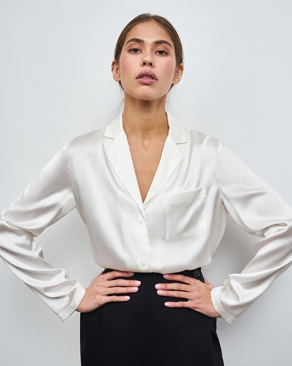 12STOREEZ Блуза на пуговицах из шёлка блуза zibi london блуза