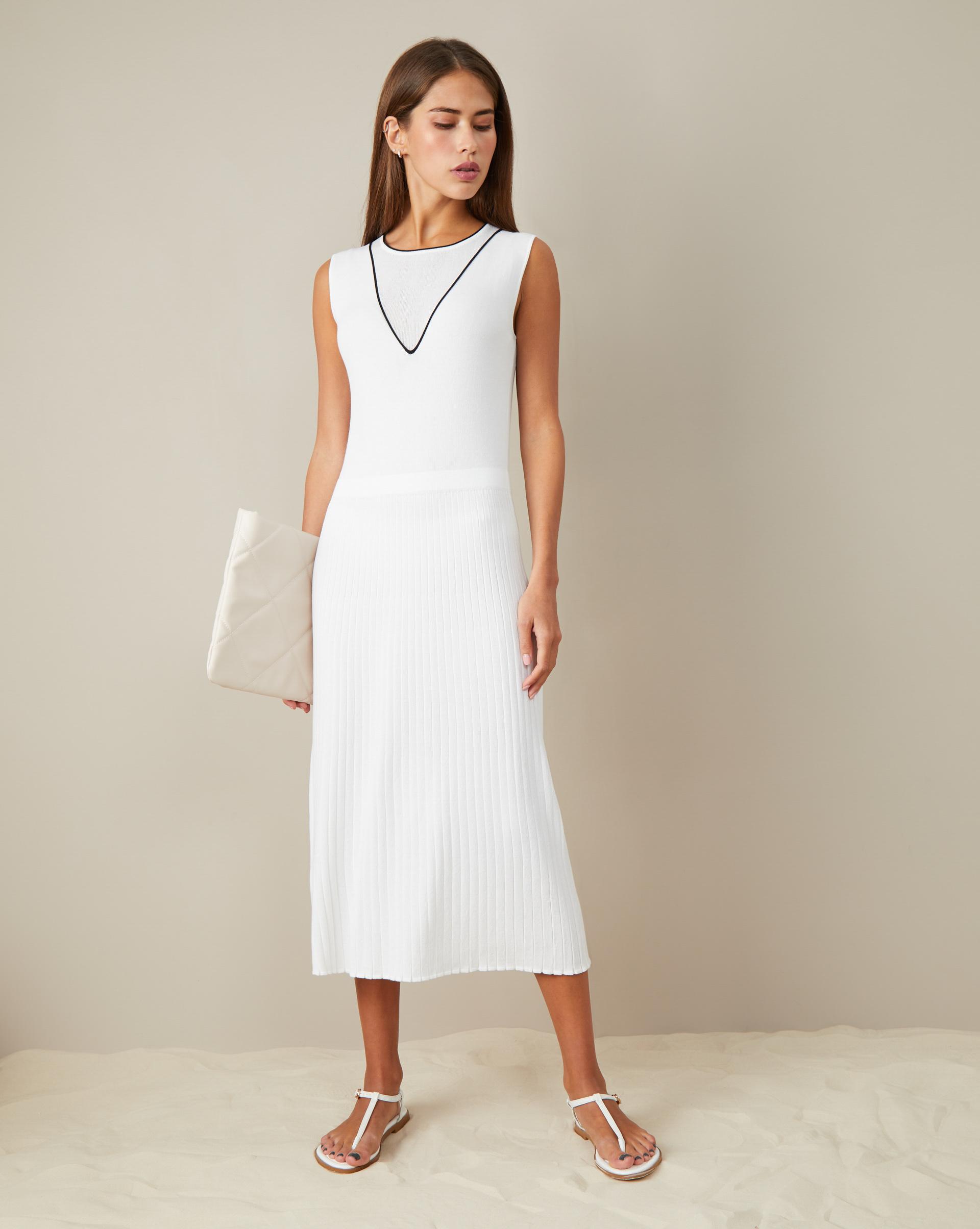 12STOREEZ Платье с юбкой плиссе