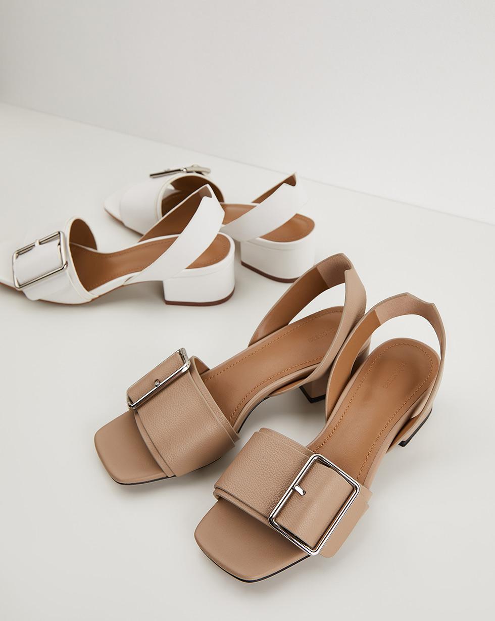 12⠀STOREEZ Сандалии на каблуке, с пряжкой 12⠀storeez сандалии с перемычкой