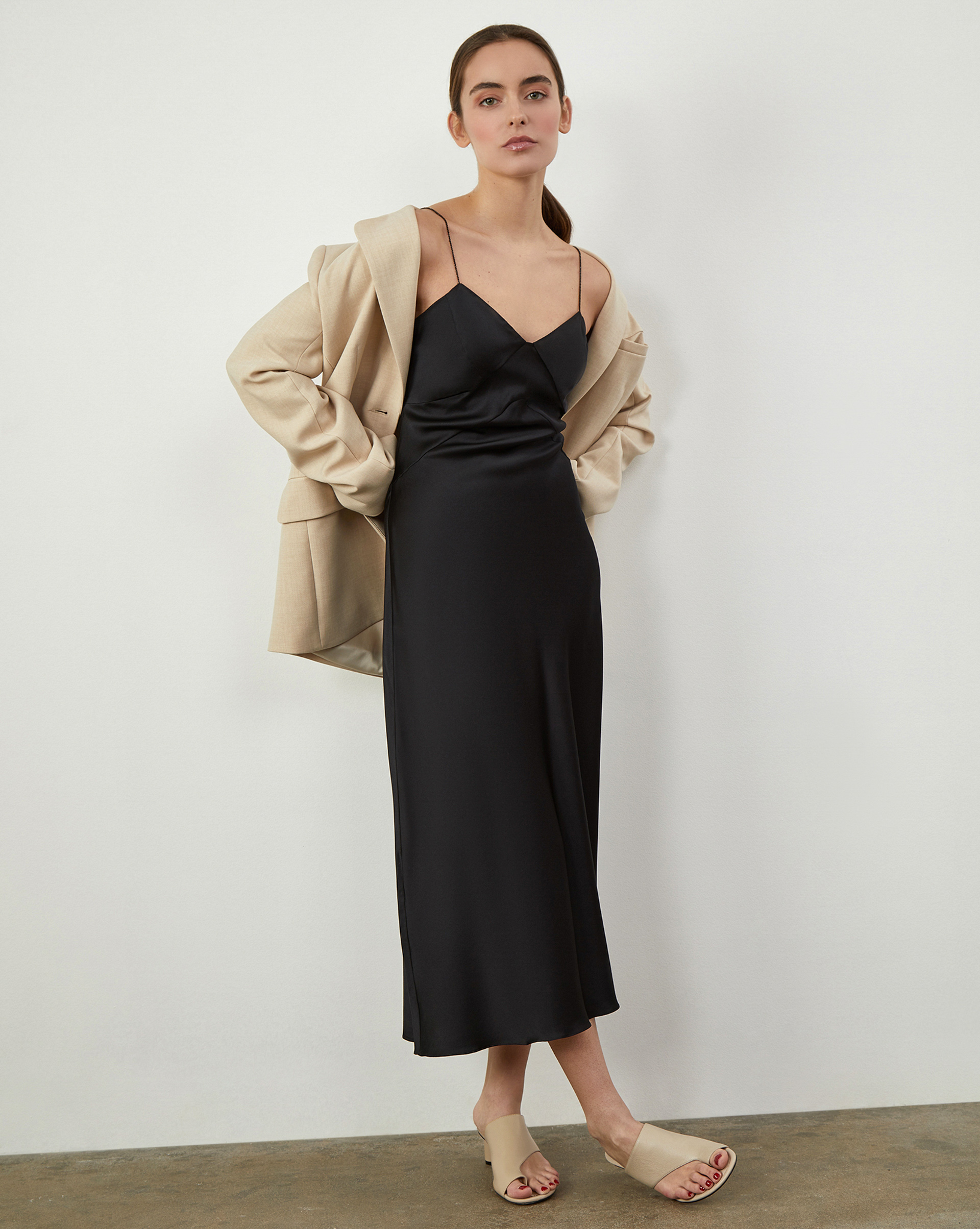12STOREEZ Платье-комбинация из шелка