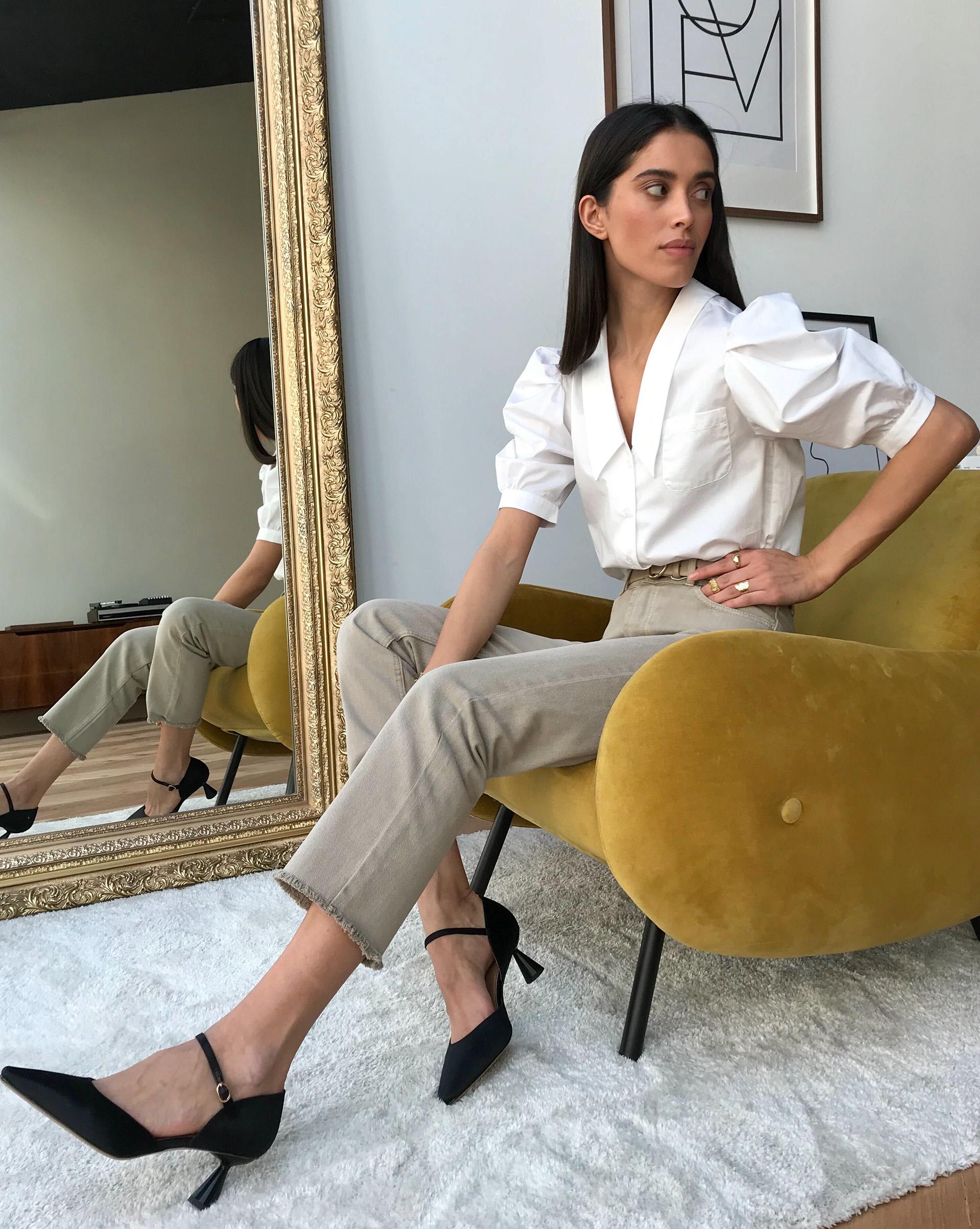 12STOREEZ Блуза с объемными рукавами блуза zibi london блуза