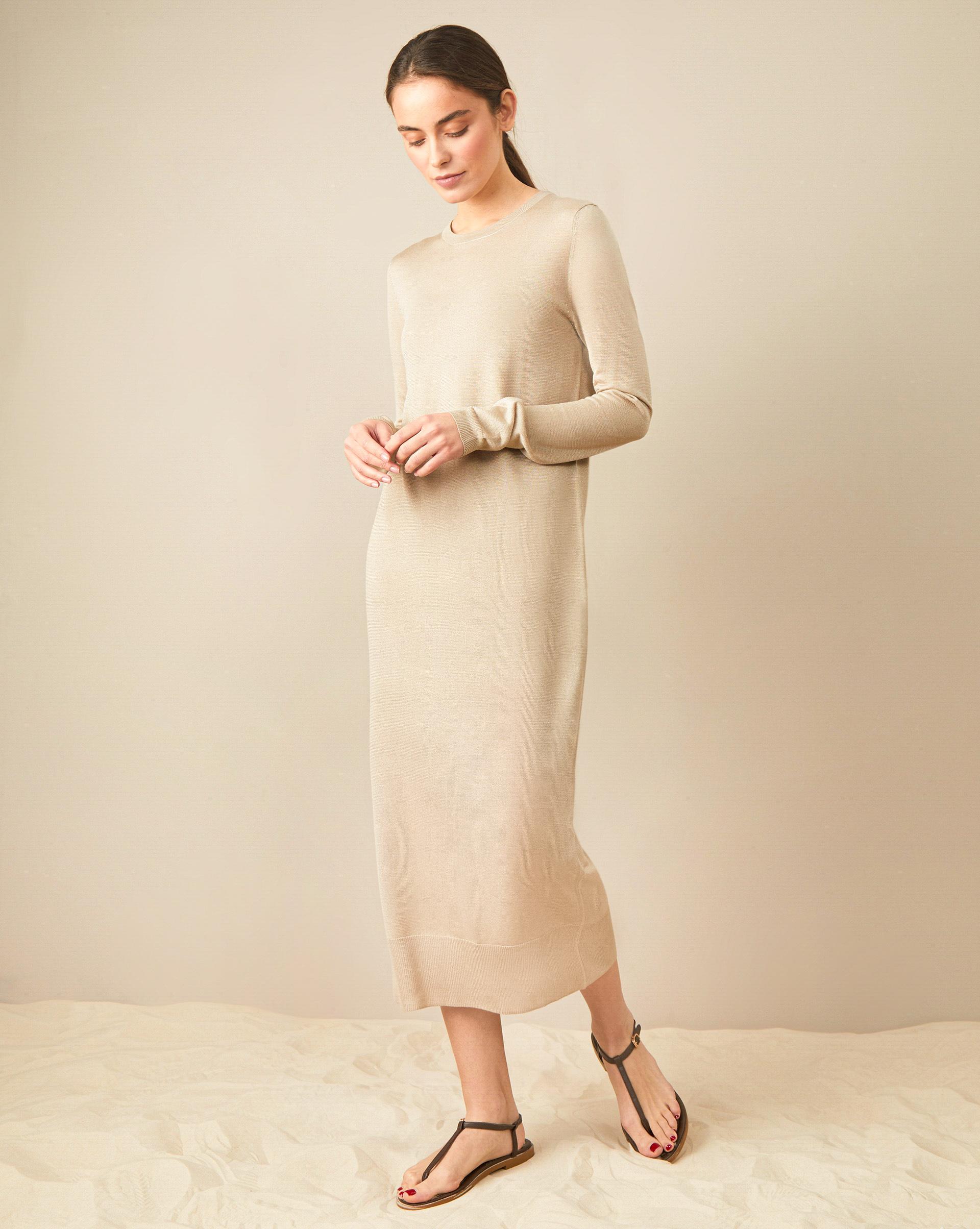 12STOREEZ Прямое платье миди