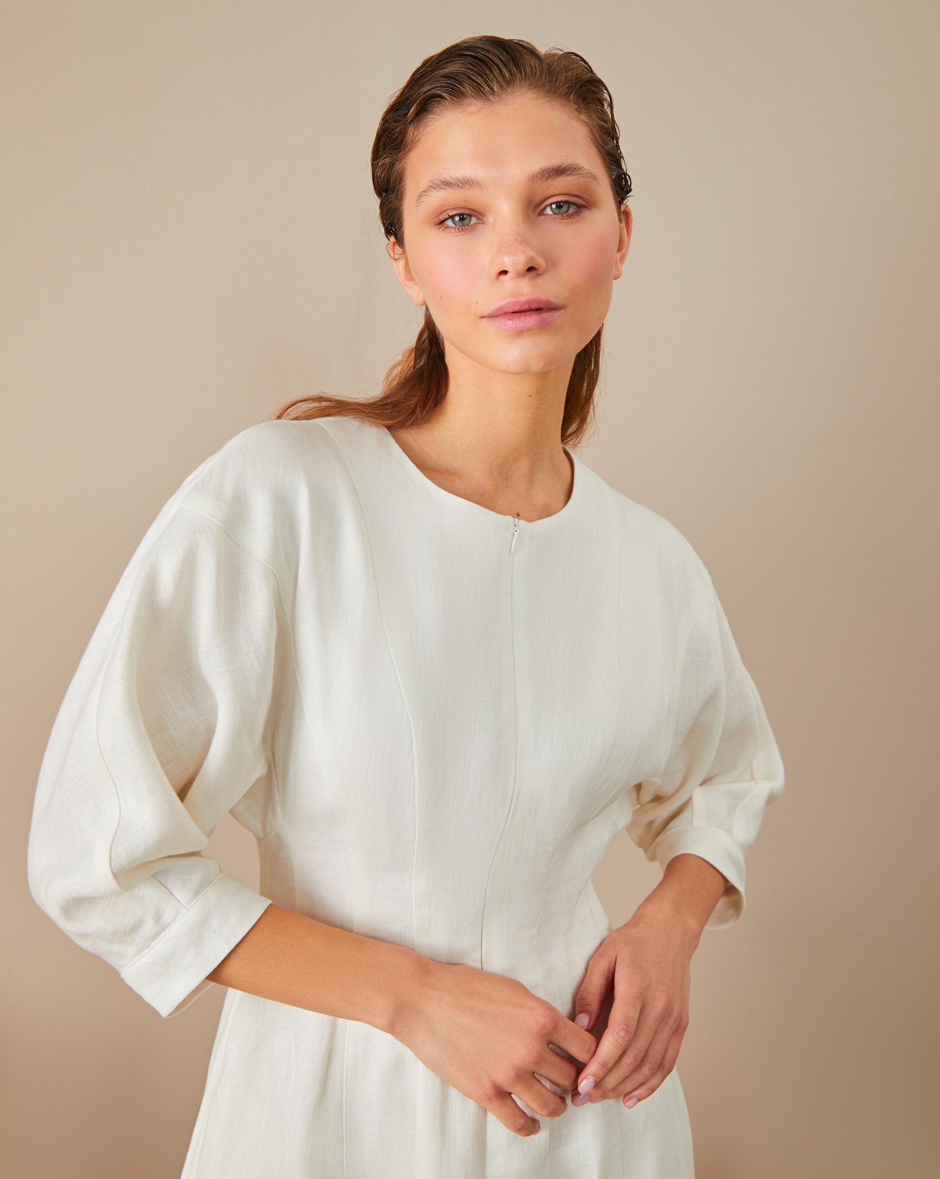 12STOREEZ Платье миди на молнии приталенное платье с застежкой на молнию петербургский швейный дом