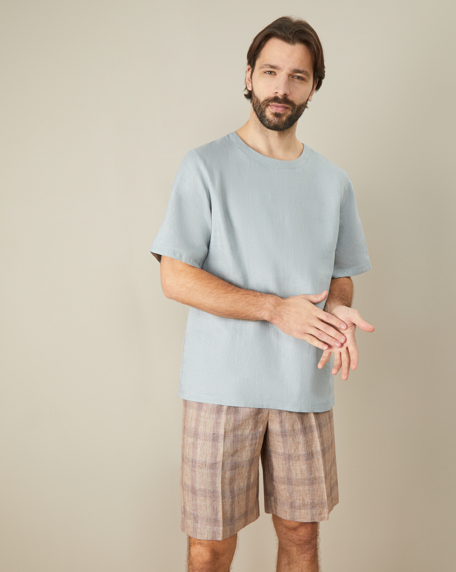 12STOREEZ Рубашка изо льна свободного кроя платье свободного кроя с вырезом на спине acasta